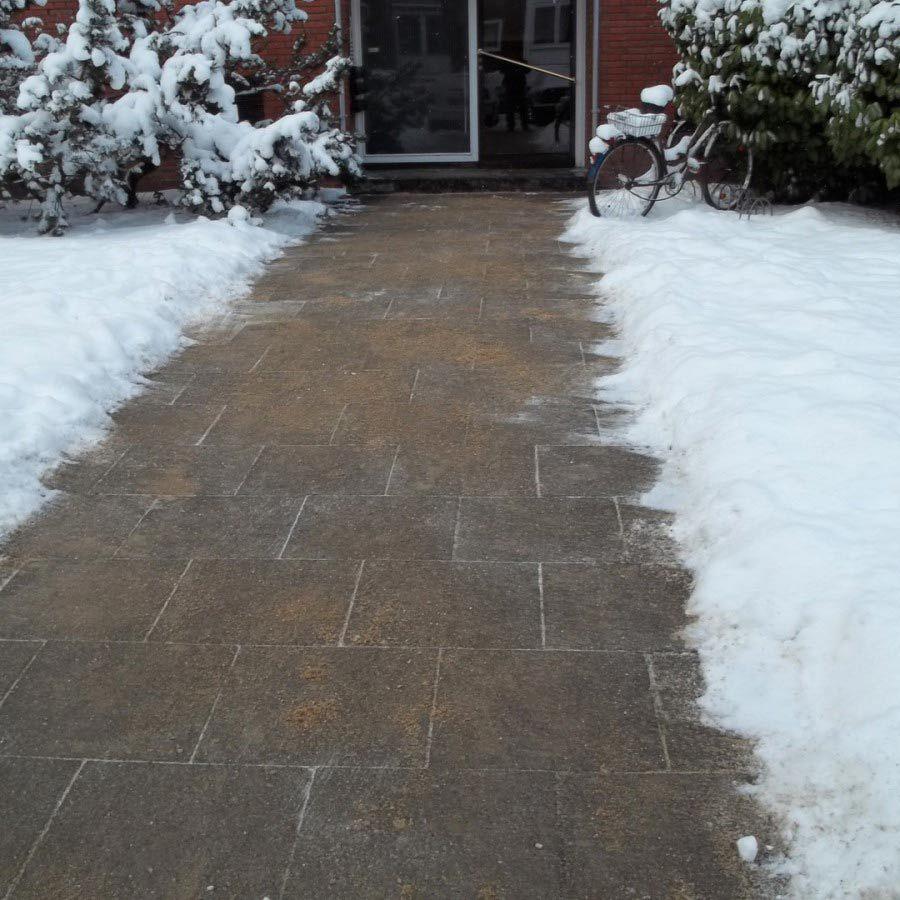 Weg zum Haus im Winter