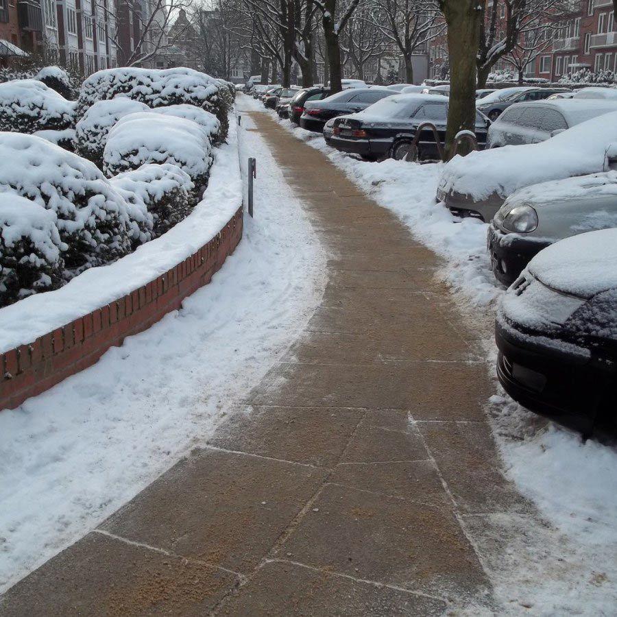 Freier Weg im Winter