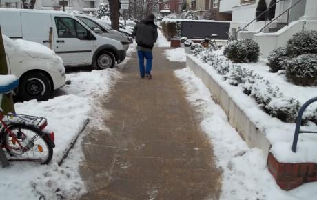 Weg im Winter